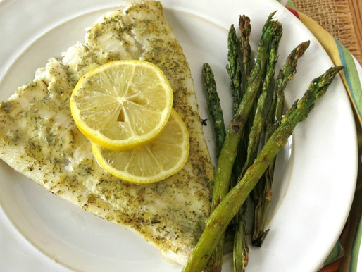 Turbo Fillets with Lemon Dill Sauce
