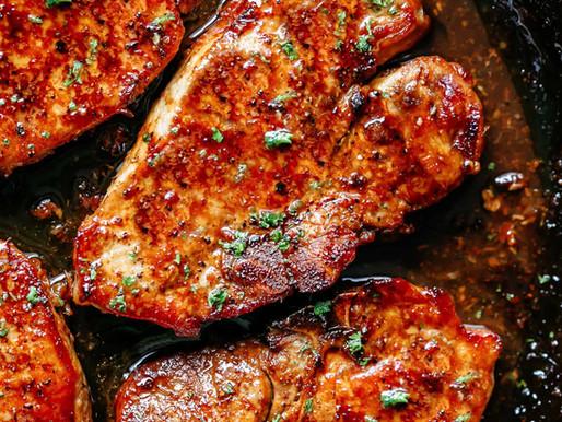Boneless Pork Chop with Red Wine Reduction