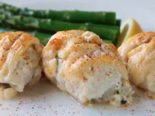 Lemon Sole with Crab Meat Stuffing