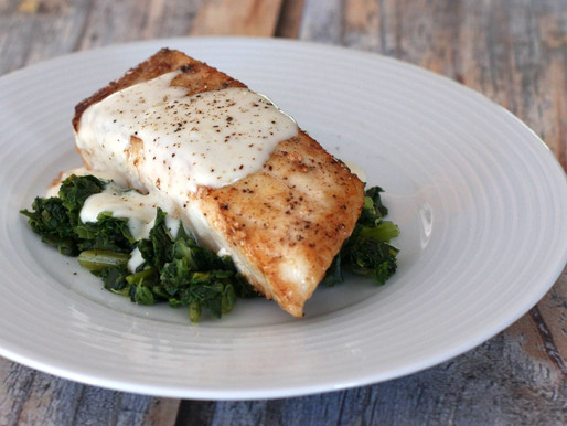Halibut with Garlic Herb Butter
