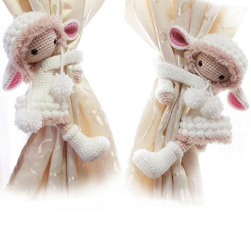 Lamb Girl Curtain Tieback - PATTERN