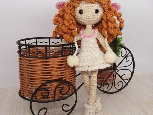 A new design - Crochet Lamb Girl.