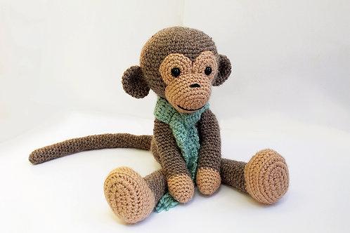קוף סרוג עם צעיף