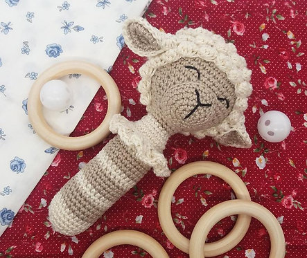 Crochet Lamb Rattle - PATTERN