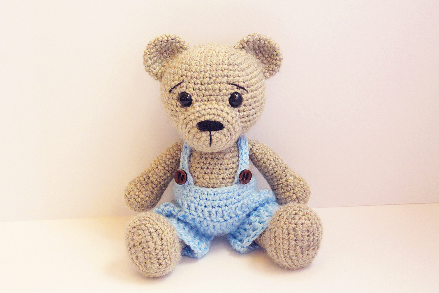 Amigurumi Teddy bear in pajamas rochet pattern PDF Tutorial ... | 1000x1500