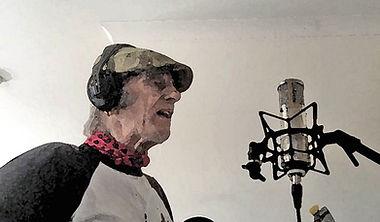 Graham Dee recording vocals from lockdown in Dorset