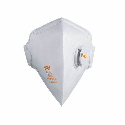 Silv-Air 3210 FFP2V valved flat-fold disposable respirator mask