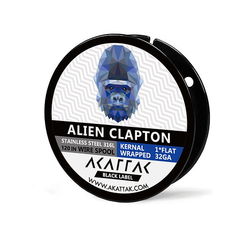 Alien Clapton Wire Spool SS316 Stainless Steel 316 L Wire Prebuilt 120 Inch