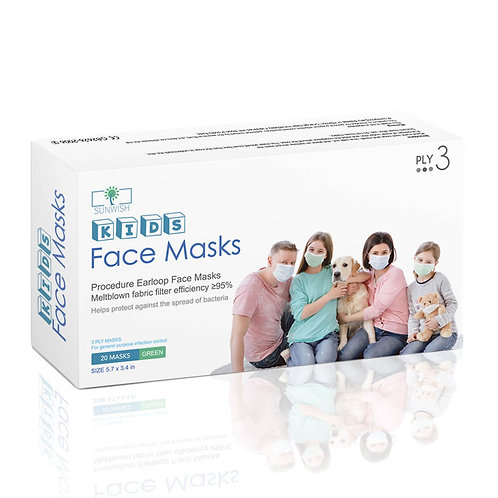 Disposable Face Mask for Kids General Purpose Use 20 Count / Box