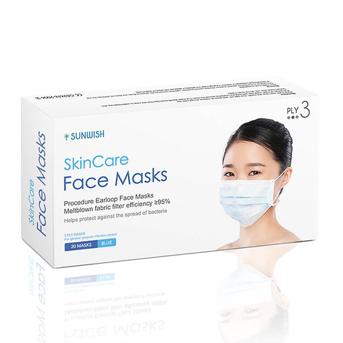 Disposable Face Mask 3-Layer for General Purpose Use 40 Count by SUNWISH