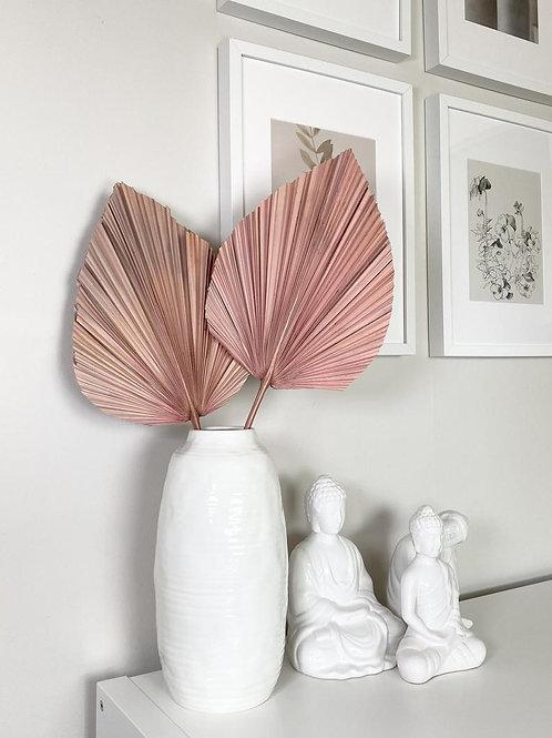 40 inch pink preserved palm leaf