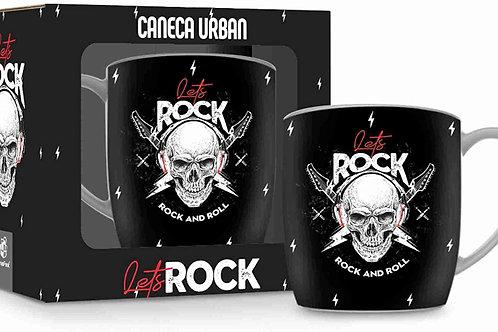 Caneca Porcelana 360ml Lets Rock