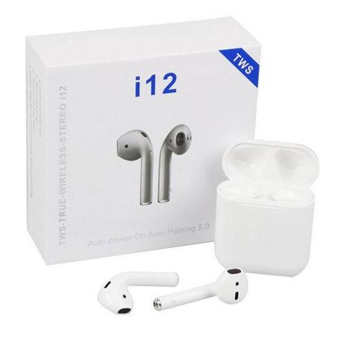 Fone De Ouvido I12 TWS Wireless Branco