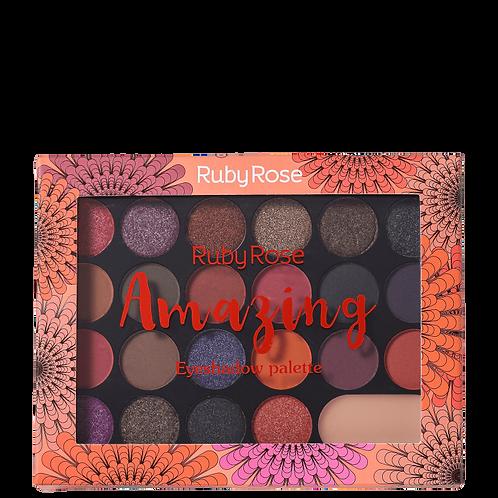 Paleta De Sombras Amazing Com 22 Cores Ruby Rose