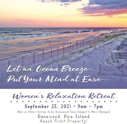 Women's Relaxation Retreat - 9/25/21