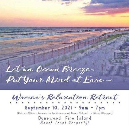 Women's Relaxation Retreat - 9/10/21