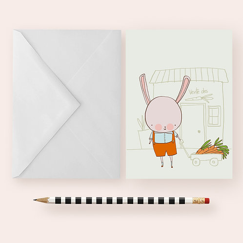 I LOVE CARROTS / Greeting Card