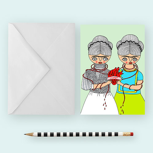 2 FRIDAS / Greeting Card
