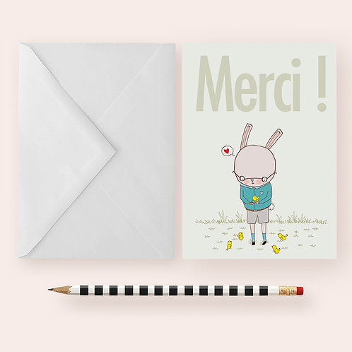 MERCI ! - THANK YOU! / Greeting Card