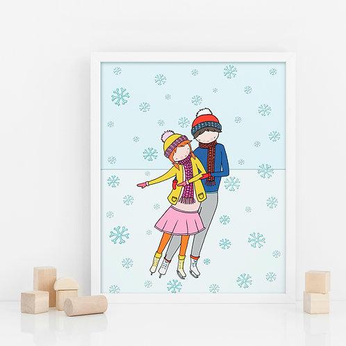 ICE SKATING / Print