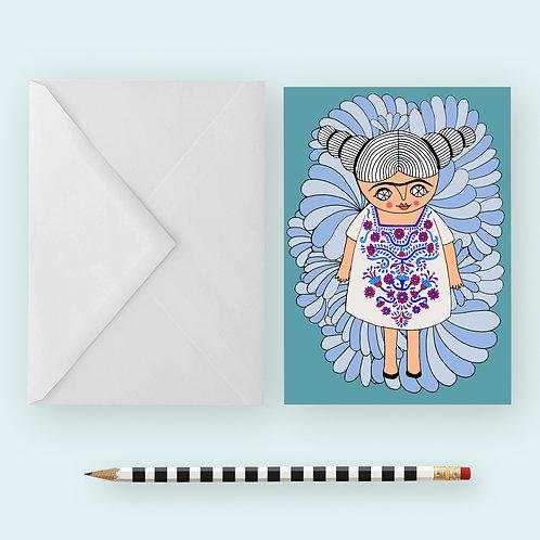 FRIDA'S HUIPIL / Greeting Card
