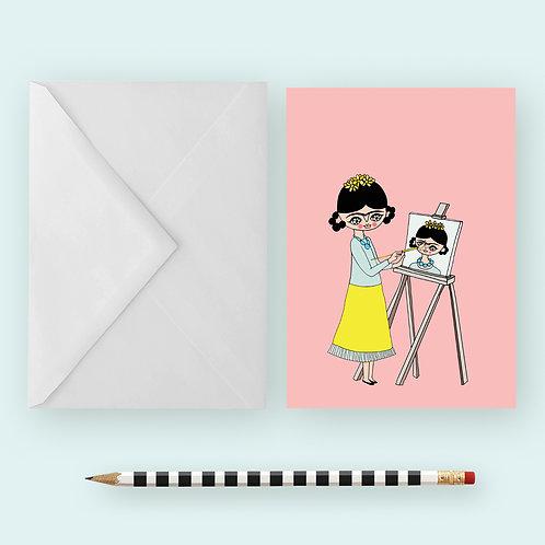 FRIDA PAINTING / Greeting Card