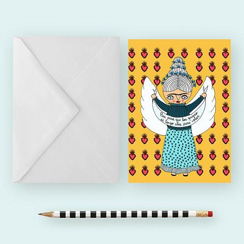 FLYING FRIDA / Greeting Card