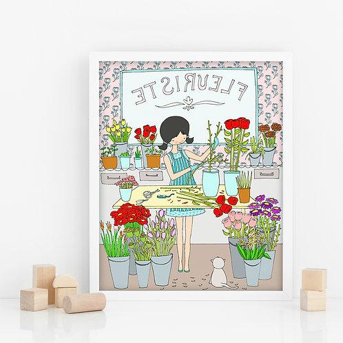 FLOWER SHOP / Print