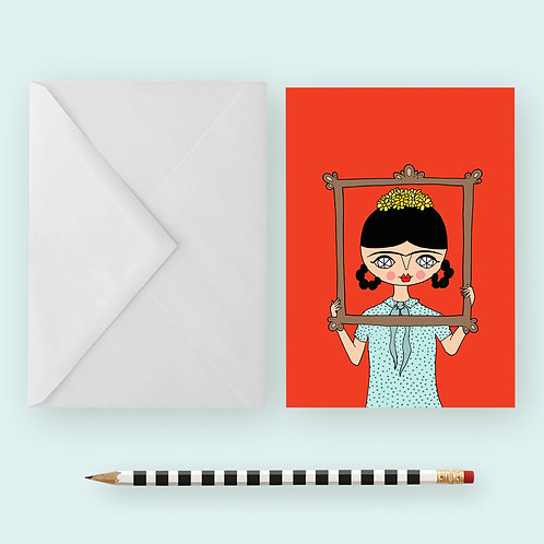FRIDA IN FRAME / Greeting Card