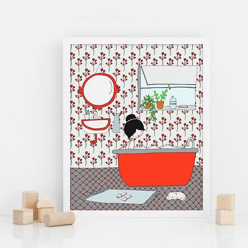 BATH TIME / Print