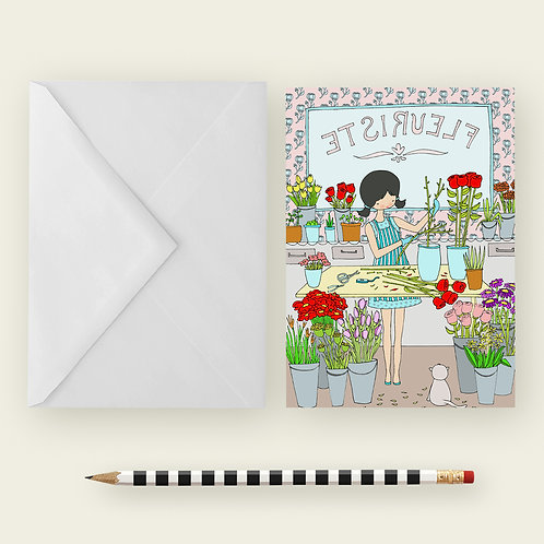 FLOWER SHOP / Greeting Card
