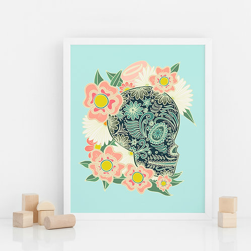 PRINT / Flowery skull