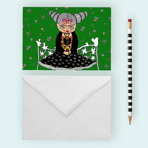 FRIDA VOGUE / Greeting Card