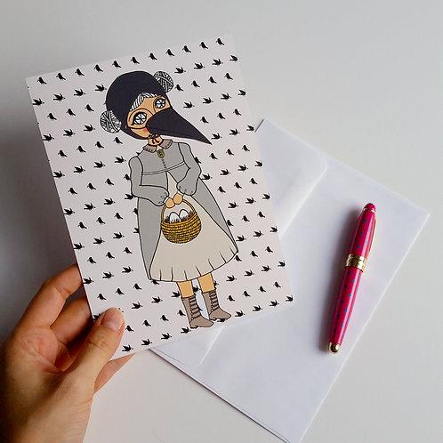 CROW GIRL / Greeting Card