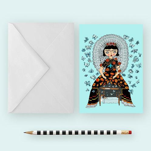 FRIDA PAPILLON / Greeting Card