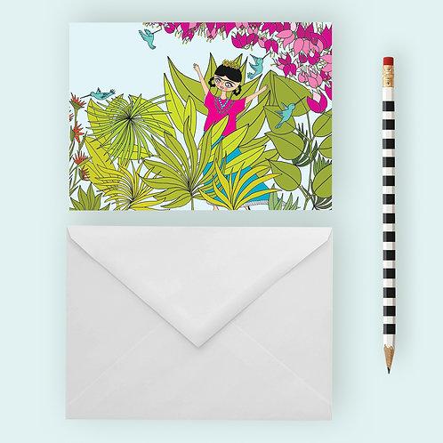 FRIDA AU PARADIS / Greeting Card