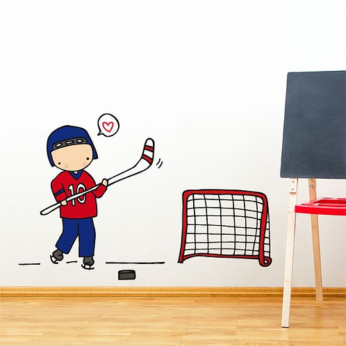 WALL DECAL / Hockey player