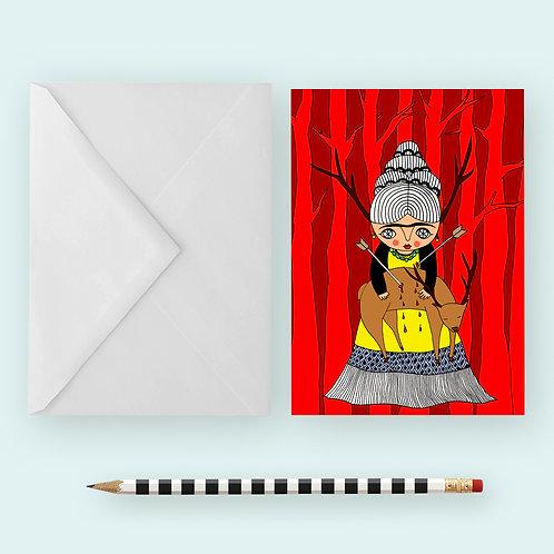 OH DEER FRIDA / Greeting Card