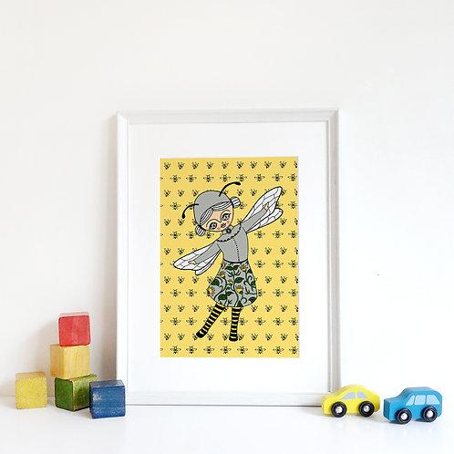 BEE GIRL / Print