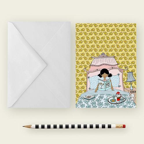 BREAKFAST IN BED / Greeting Card