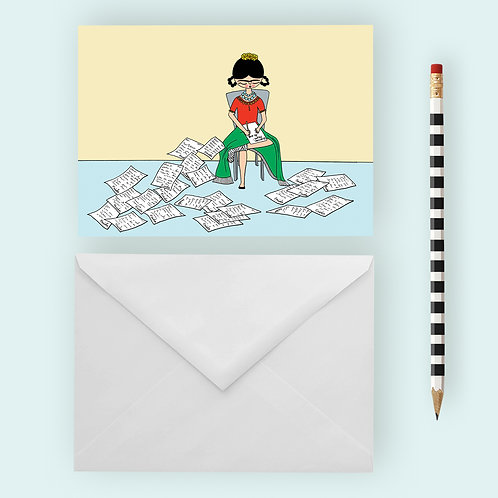 FRIDA'S LETTERS / Greeting Card