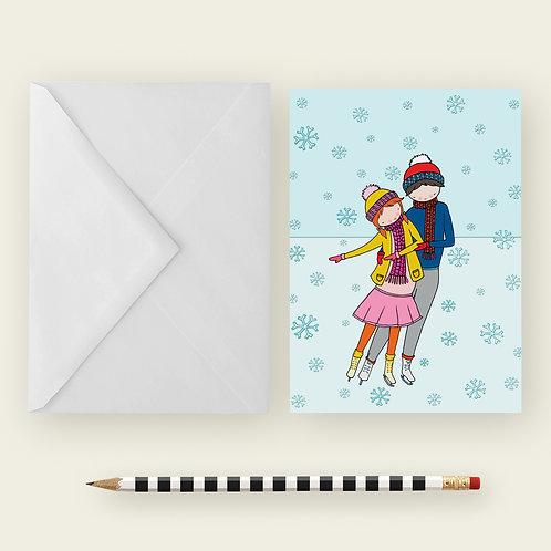 ICE SKATING / Greeting Card