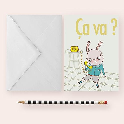 ÇA VA ? - HOW ARE YOU? / Greeting Card