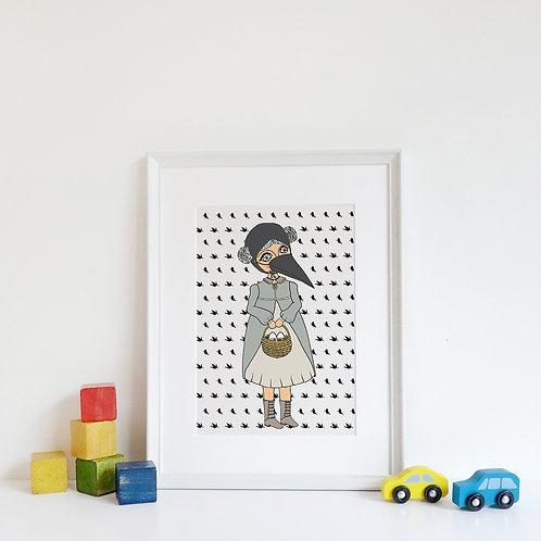 CROW GIRL/ Print