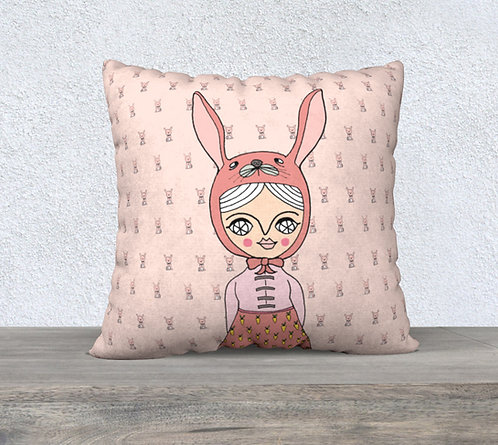 PILLOW CASE / Bunny girl