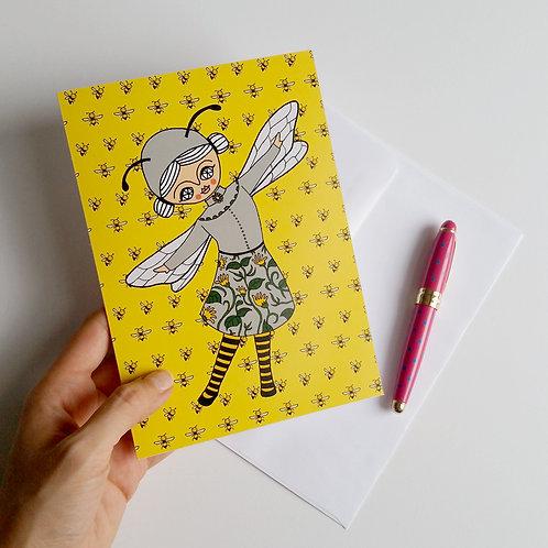 BEE GIRL / Greeting Card