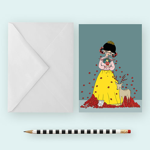FRIDA BROKEN HEART / Greeting Card