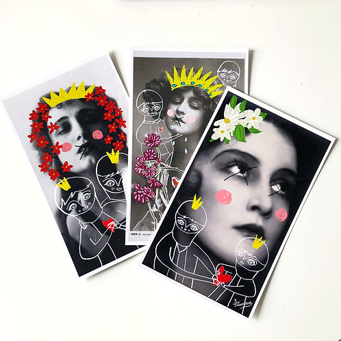 Des Hommes et Fleurs / Post Cards Set of 5