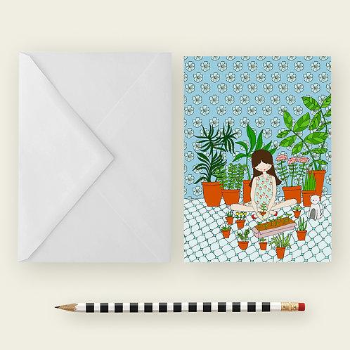 I LOVE PLANTS / Greeting Card