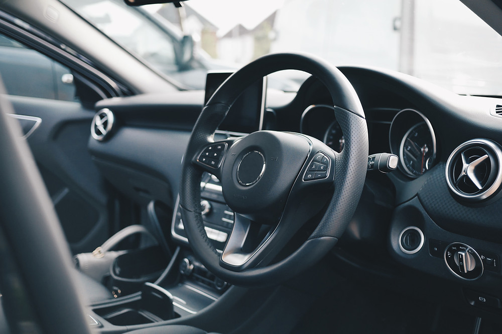 Car interior with Greenslip insurance